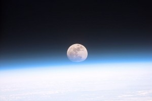 Vollmond fotografiert vom Space Shuttle